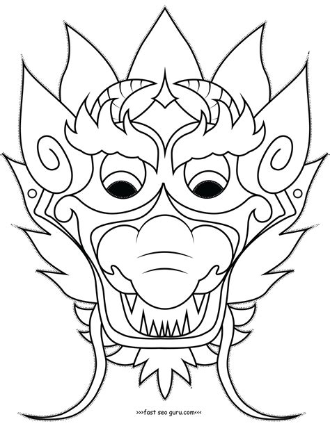 new year mask template printable mask coloring pages cut out