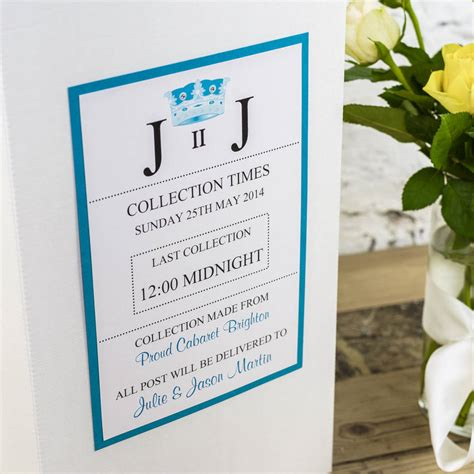 Wedding Box Poem by Personalised Ivory Wedding Post Box By Dreams To Reality
