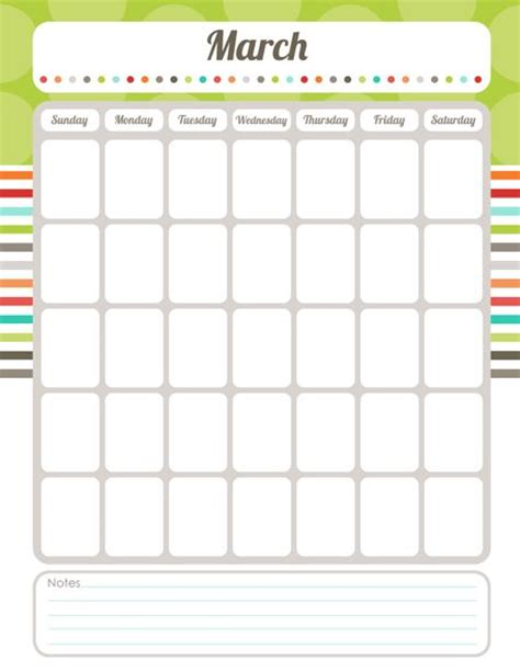 free printable editable calendar pdf teaching stuff
