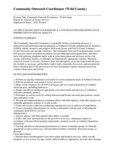 Volunteer Coordinator Cover Letter by Cover Letter Exle Volunteer Coordinator