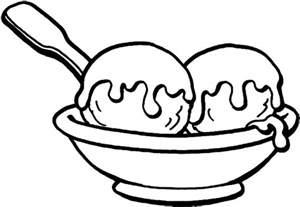 Ice Cream Sundae Coloring Page  Bulk Color sketch template