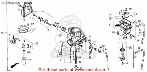 honda fourtrax 250 carburetor diagram honda trx250x fourtrax 250x 1987 h usa carburetor