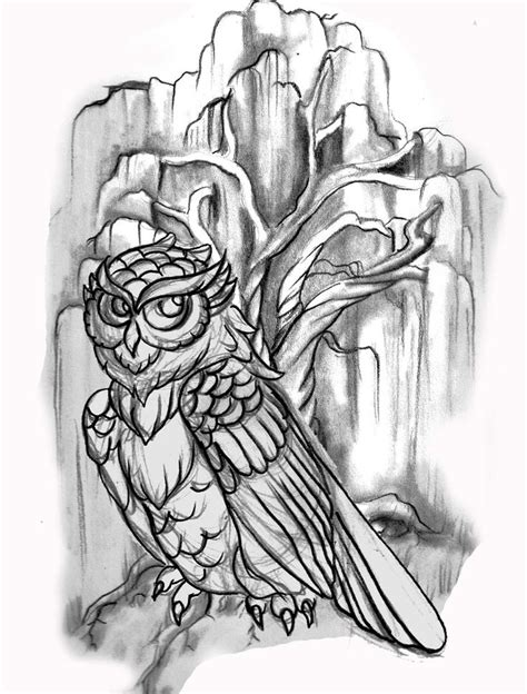 owl tattoo line drawing tattoo flash line drawing images