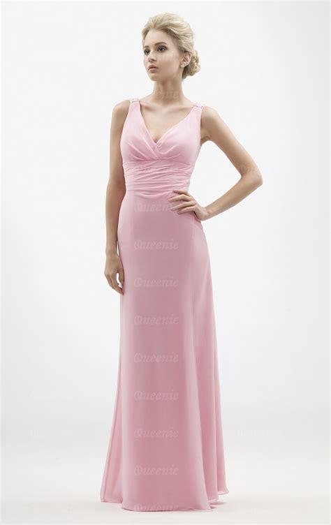 Handmade Bridesmaid Dresses Uk - custom made chiffon pink bridesmaid dress bnnbc0007