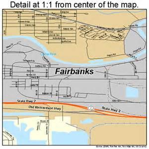 Fairbanks Alaska Map by Fairbanks Alaska Street Map 0224230