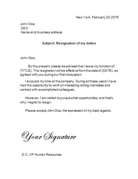 What To Say In Resignation Letter by What To Say And Not To Say In A Resignation Letter Resignation Letter