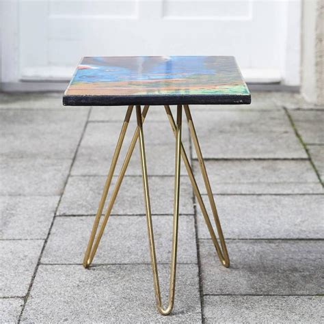 Colorful Table L by Colorful Ceramic Tripod Side Table Italy 1955 For Sale