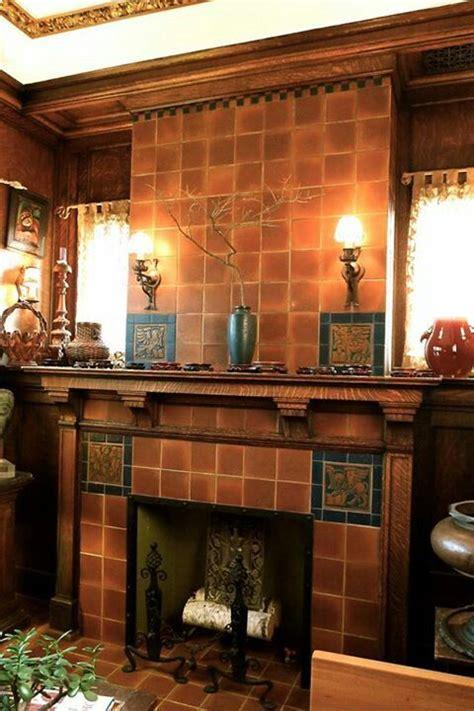 Arts And Crafts Tiles For Fireplaces by 25 Best Ideas About Craftsman Fireplace On Fireplace Surrounds Craftsman Shelving