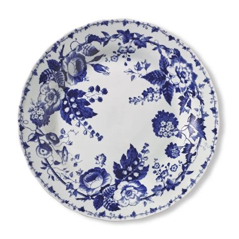 Floral Plate blue bouquet dinner plates floral williams sonoma