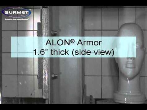 surmets alon transparent armor  caliber test youtube