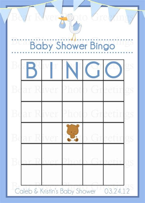 Baby Shower Bingo Cards Template baby shower bingo card printable digital by photogreetings