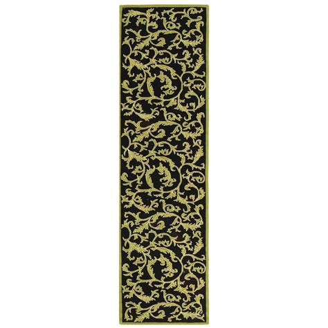 2 X 8 Runner Rugs Safavieh Chelsea Black 2 Ft 6 In X 8 Ft Rug Runner Hk307b 28 The Home Depot