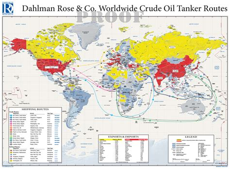 Oil tanker routes maps com solutions