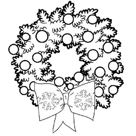 Christmas Wreath Coloring Page Coloring Home Coloring Pages Wreath