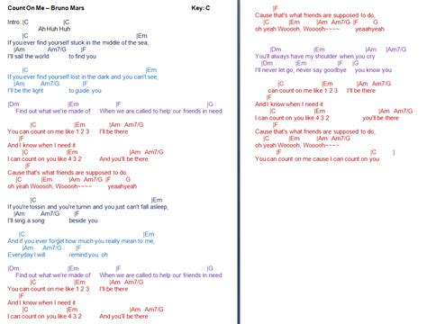 Bruno Mars Count On Me Guitar Chords