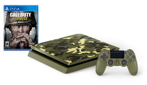 Kaset Ps4 Call Of Duty Wwii playstation 4 1tb limited edition call of duty wwii bundle for playstation 4 gamestop