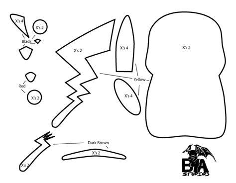 pikachu template b4a studios how to make a kawaii pikachu plush from felt