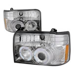 Ford Bronco Headlights Ford Bronco 1992 1996 Clear Dual Halo Projector Headlights