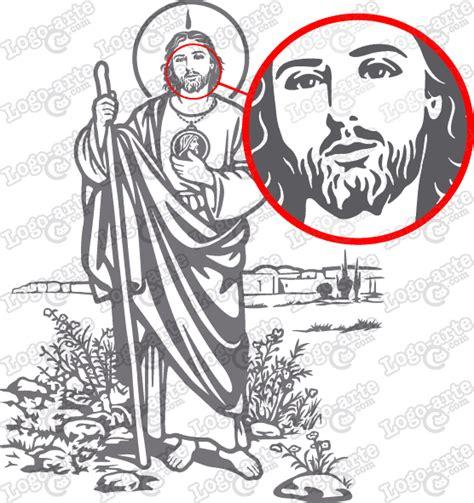 descargar imagenes de san judas tadeo para dibujar san judas tadeo vectorizado para corte en plotter y grabado