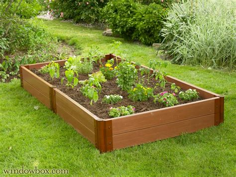 plastic raised garden beds wood composite raised gardening recycled plastic