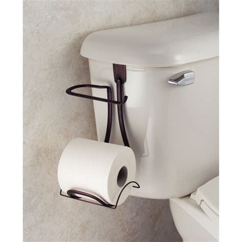 Free Standing Toilet Paper Holder With Storage by Interdesign Axis Bronze Over The Tank Toilet Paper Holder