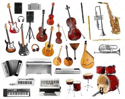 imagenes musicales instrumentos collage de instrumentos musicales fotos de stock