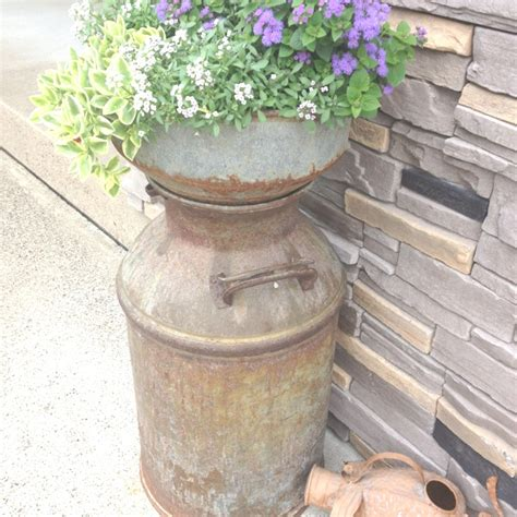 Milk Can Planter 17 best images about milk cans on flower planters mailbox ideas and monkey business