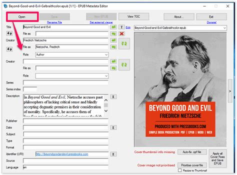 epub format editor 5 free epub metadata editor software for windows