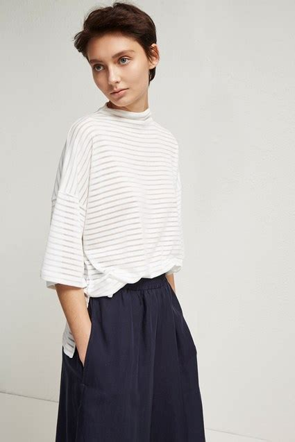 neck height side french weave pictures sario ribbed jersey high neck top new arrivals french