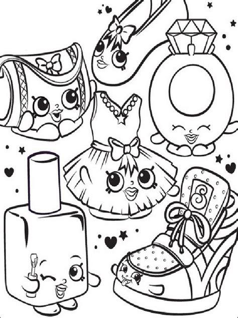 imagenes para pintar shopkins shopkins para pintar dibujos para imprimir y colorear