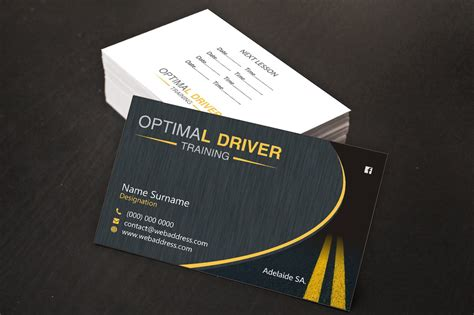 School Driver Business Card Template by Modern Professional Business Business Card Design For A