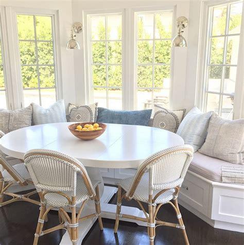 white breakfast nook interior design ideas chan interiors home bunch
