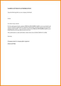 Authorization Letter Company 8 Sle Authorization Letter To Claim Money Handy Resume