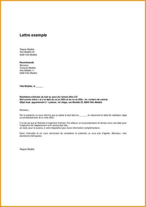Lettre de préavis travail exemple Modèle de lettre
