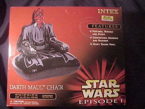 Darth maul inflatable chair star wars collectors archive