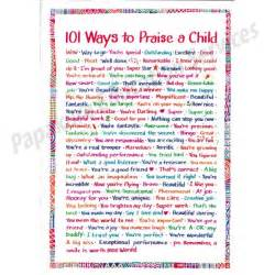 101 Ways To Praise A Child Poster » Home Design 2017