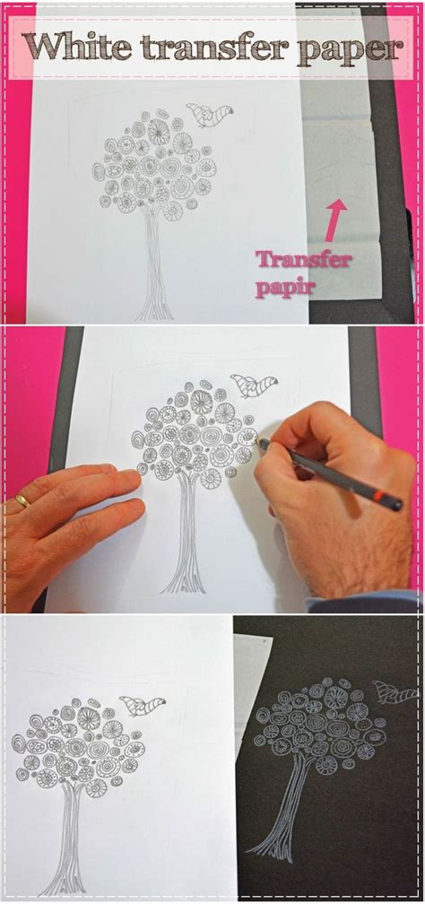 Craft Transfer Paper - grafitni papir bele barve decoart das198 white transfer