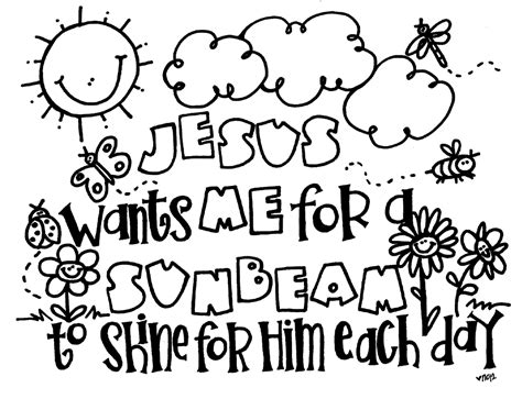 Lds Sunbeam Coloring Pages Melonheadz Lds Illustrating Sunbeam Coloring Page