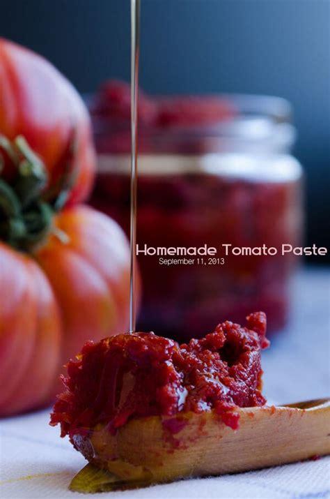 homemade tomato paste give recipe