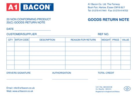 Credit Note Format For Goods Return Goods Return Note 187 Printing Offset Printing Digital Printing Factory In Kl Pj Malaysia