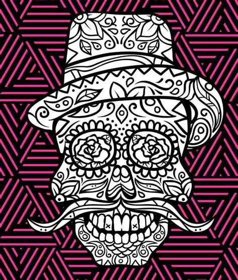 day of the dead skull coloring pages dia de los muertos day of the dead and sugar skull