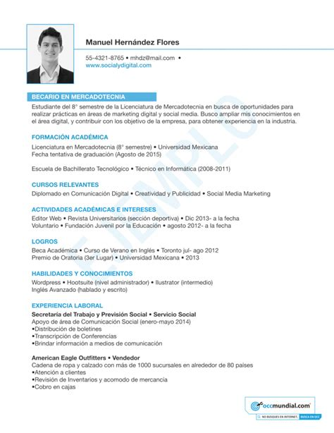 curriculum vitae formato ideal formato de curriculum con foto ideal vistalist co