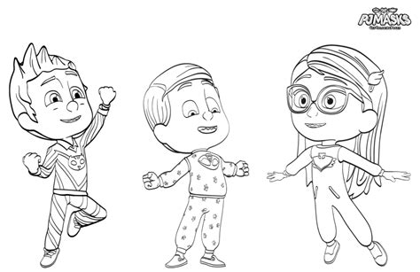 pj masks characters coloring pages top 30 pj masks coloring pages of 2017
