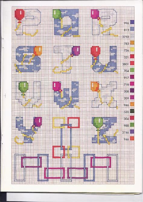 lade per neonati lade per punto croce alfabeto bimbi punto croce con i