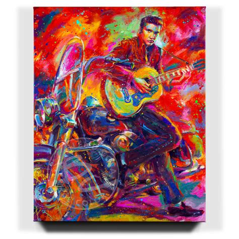 Limited Edition Roll N Go the king of rock n roll limited edition canvas
