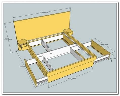 Platform Bed Plans With Drawers by 17 Best Ideas About Bed Frame Storage On Diy