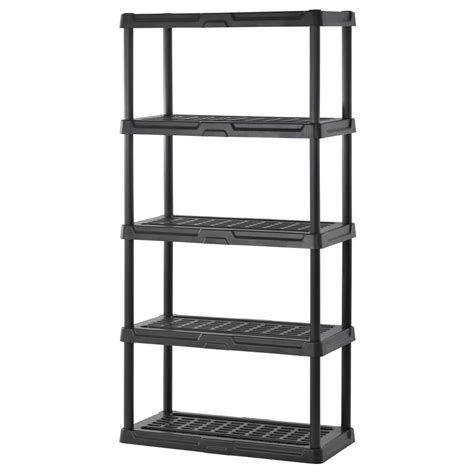 home shelving sandusky 72 in h x 36 in w x 18 in d 5 shelf black