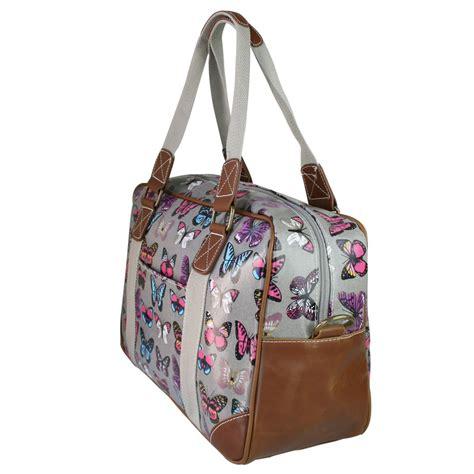 Butterfly Bag l1106b miss lulu oilcloth travel bag butterfly grey