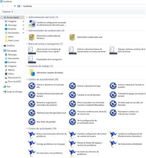 windows 10 con diot activar modo dios en windows 10 godmode paperblog
