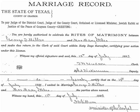 Grayson County Marriage Records Breaking Marriage Records